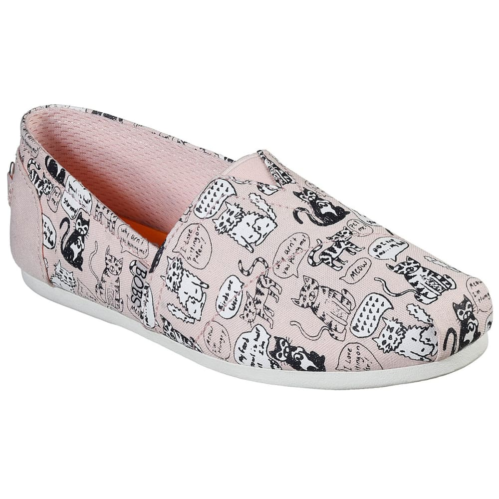 SKECHERS Women's BOBS Plush Quote Me Casual Shoes - PINK-LTPK