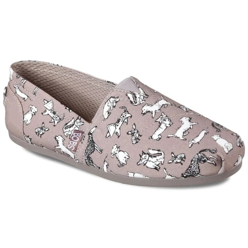 SKECHERS Women's Bobs Plush Dream Poodle Shoes - TAUPE-TPE
