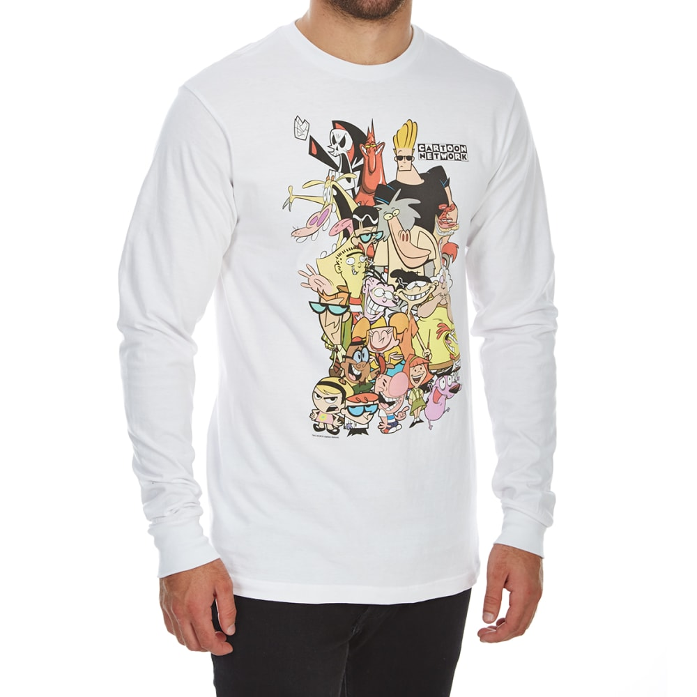 Body Rags Guys' Cartoon Network Retro Group Long-Sleeve Tee - White, M