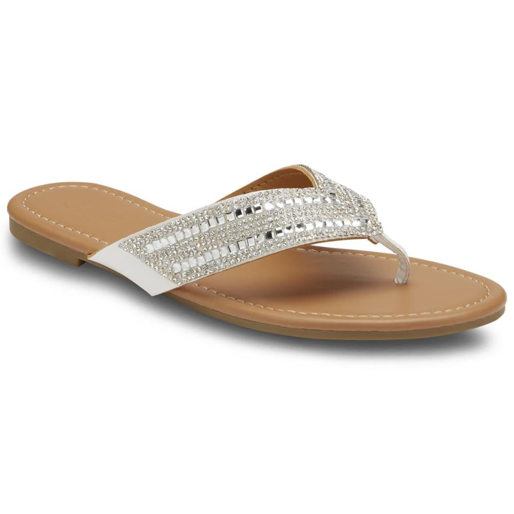 f115e2202cc2 Olivia Miller Women s Rhinestone Thong Sandals