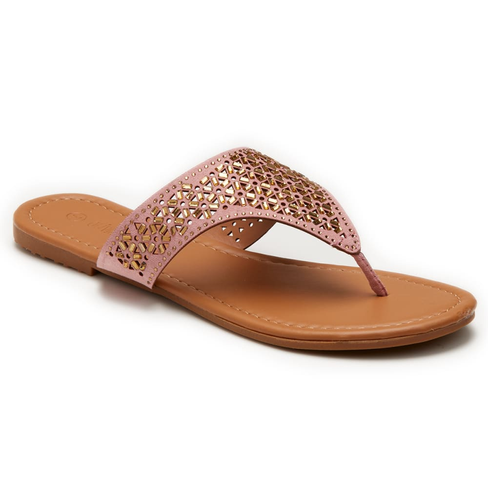 OLIVIA MILLER Women's Cut-Out Hooded Thong Sandals - BLUSH