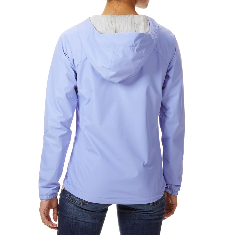 NEW BALANCE Women's Solid ID Dobby Hooded Jacket with Chest Pocket - ICE VIOLET-PU094
