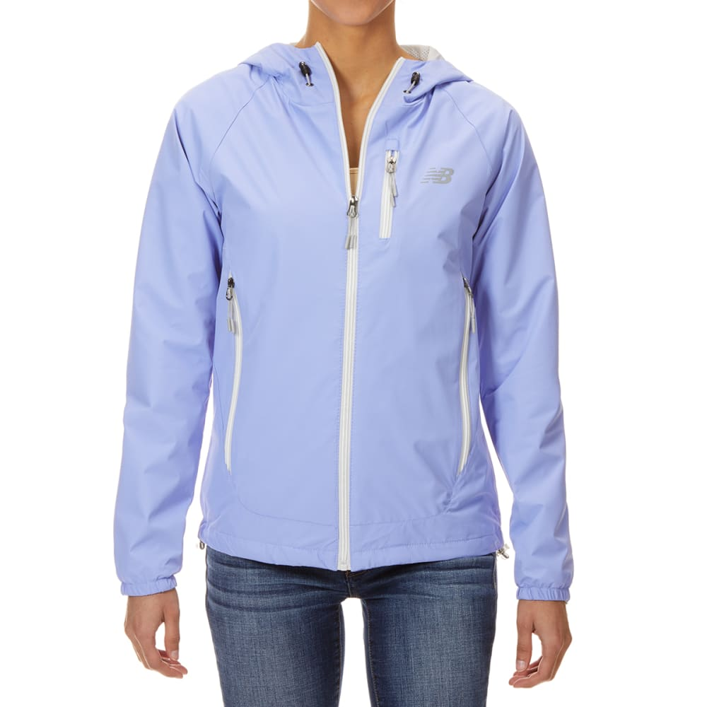 NEW BALANCE Women's Solid ID Dobby Hooded Jacket with Chest Pocket S