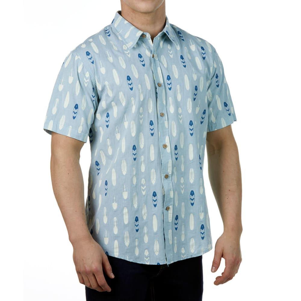 Ocean Current Guys' Boardie Woven Short-Sleeve Tee - Blue, S