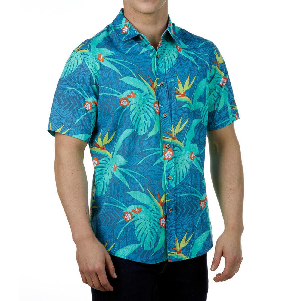 Ocean Current Guys' Short-Sleeve Woven Button Down - Blue, S