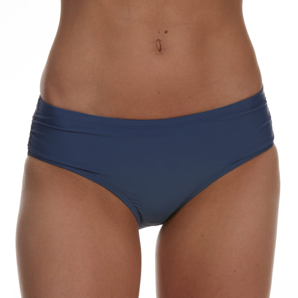 Free Country Women's Swim Side Ruched Bikini Bottoms - Black, M