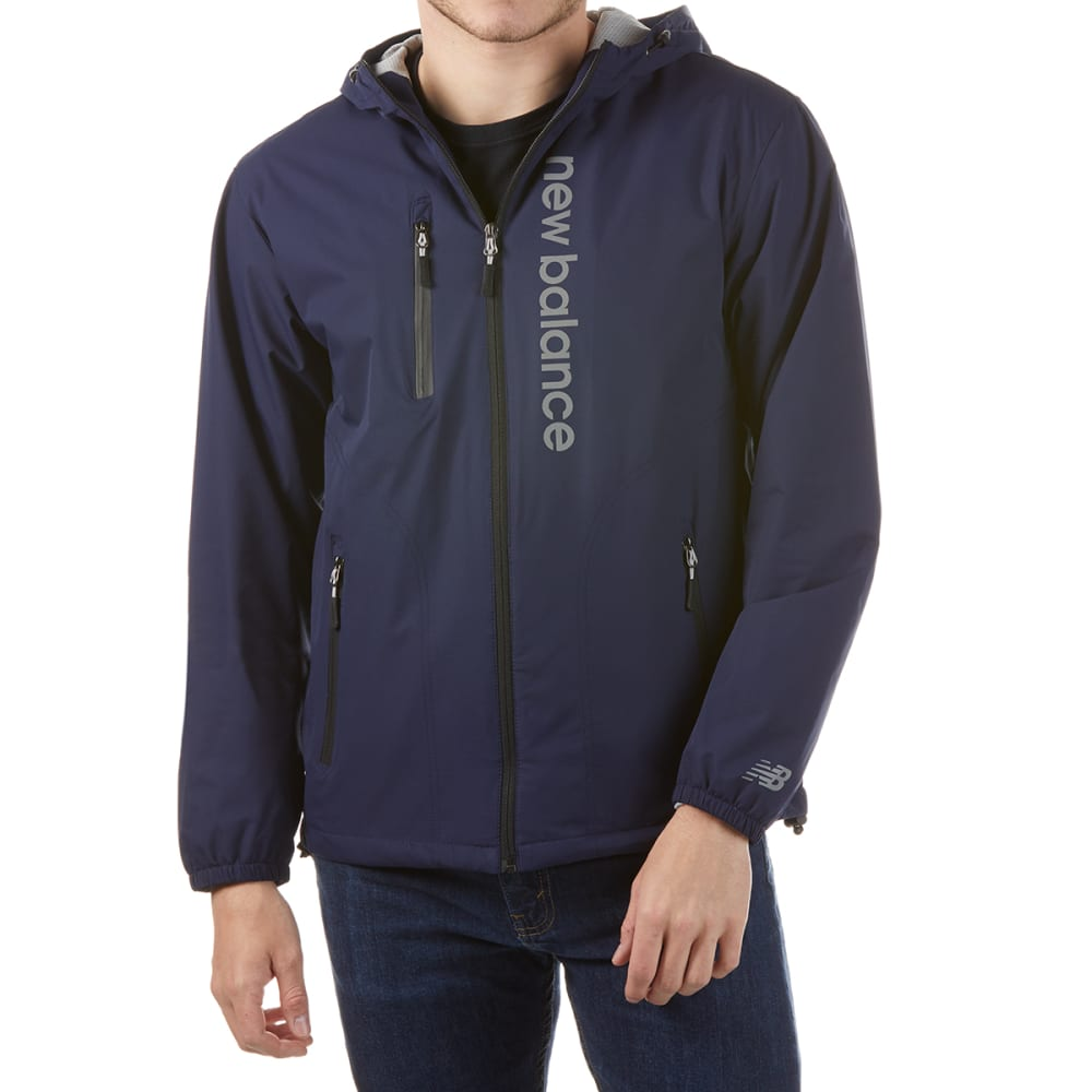 NEW BALANCE Men's Poly Dobby Signature Jacket - PIGMENT-NY210