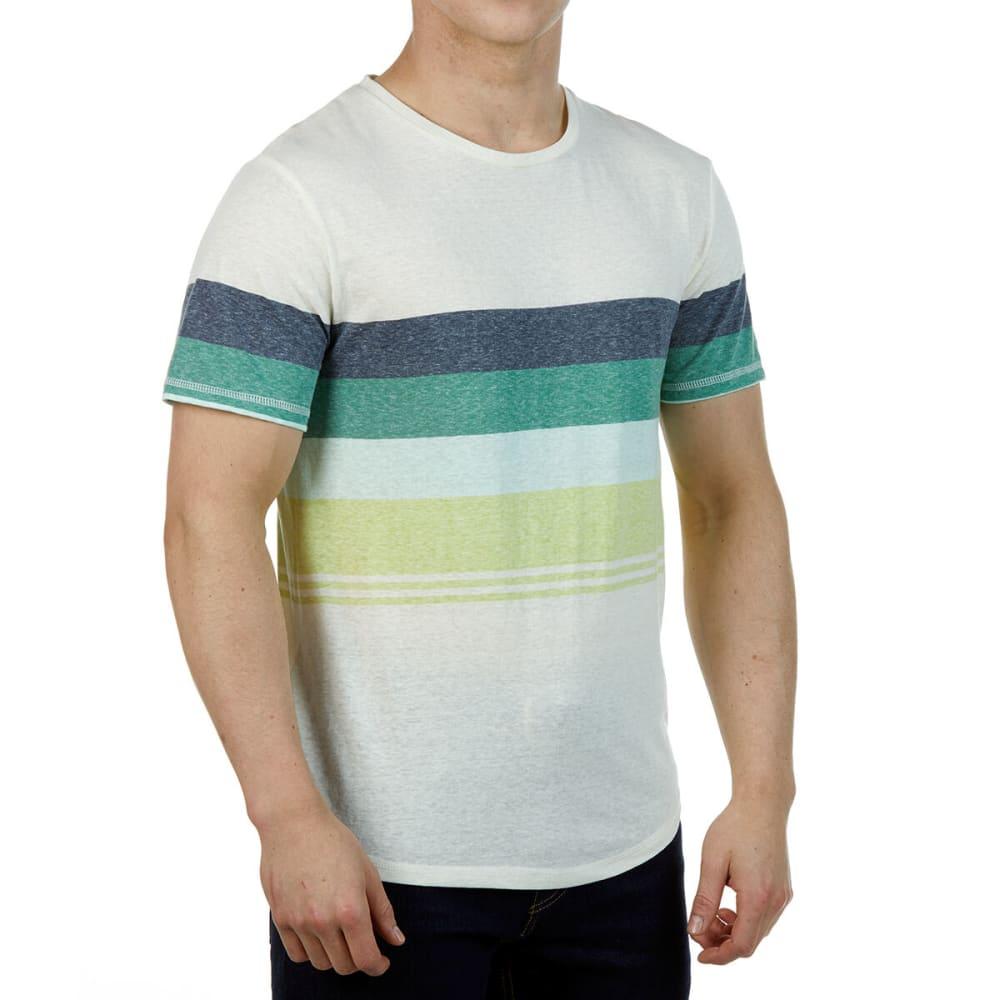 Ocean Current Guys' Short-Sleeve Stripe Tee - White, S