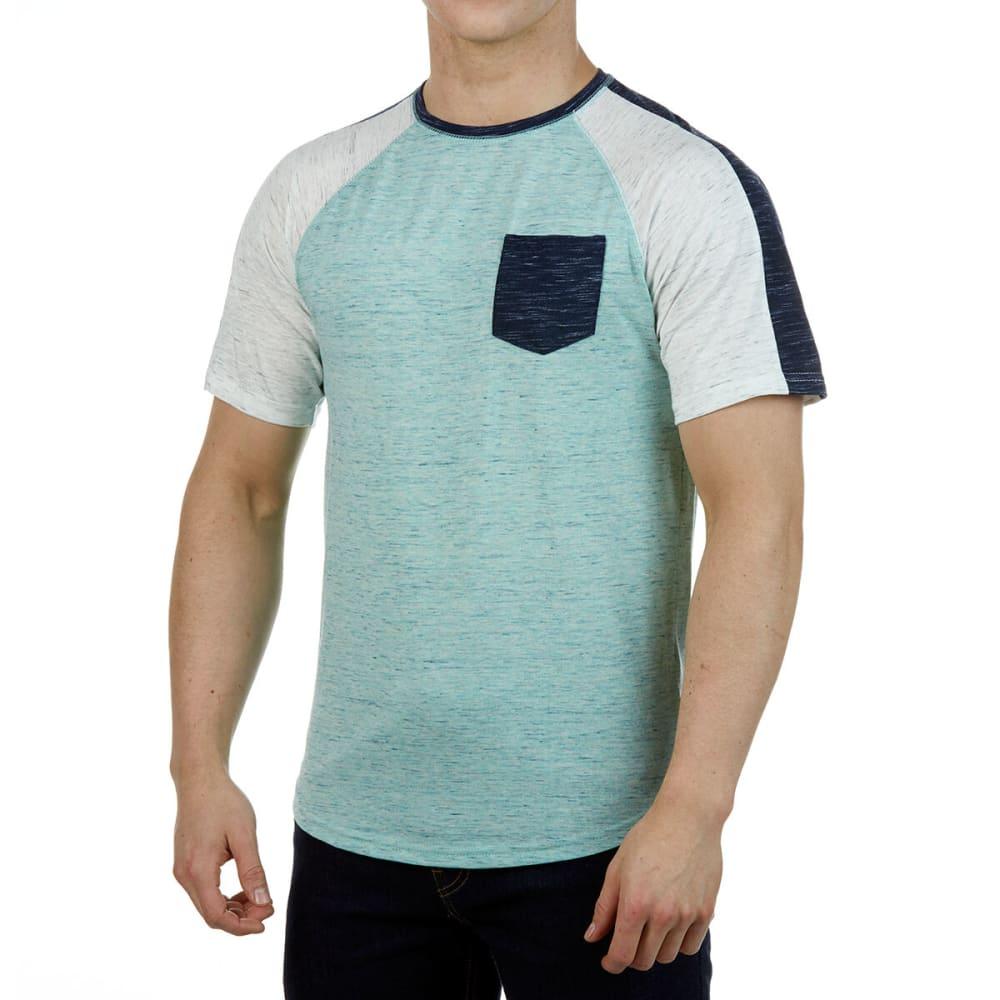 Ocean Current Guys' Slub Short-Sleeve Tee - Blue, S