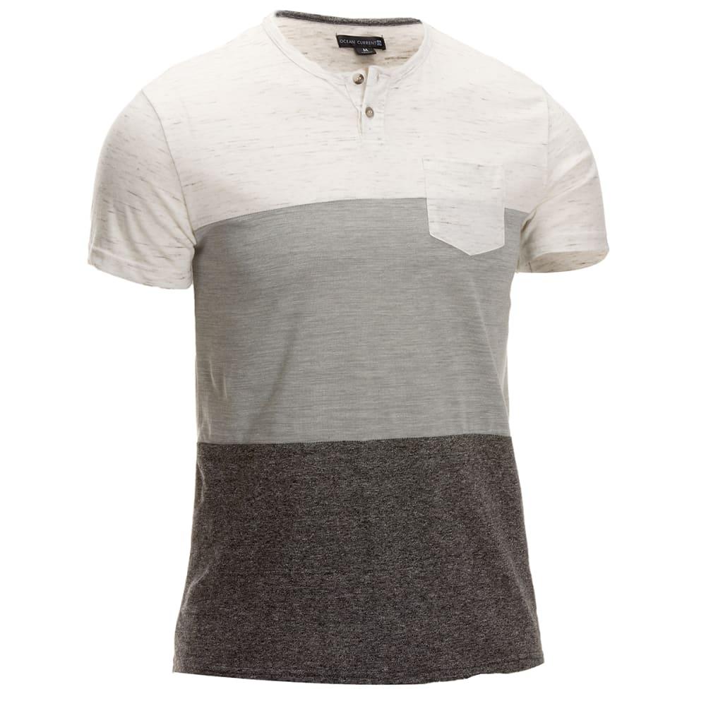 Ocean Current Guys' Looker Slub Mock Short-Sleeve Shirt - White, S
