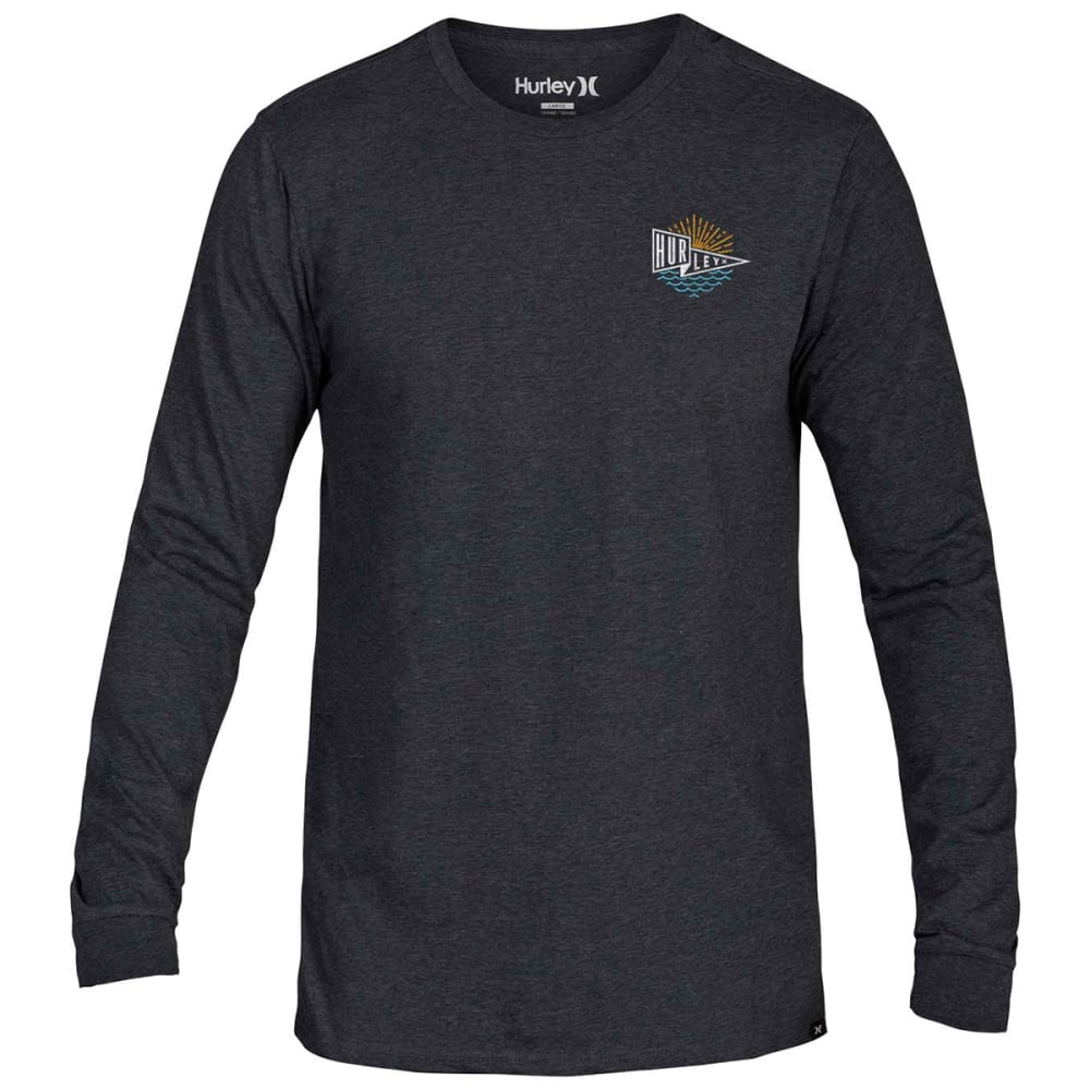 HURLEY Guys' Flagship Graphic Long-Sleeve Tee - HEATHER CHARCOAL
