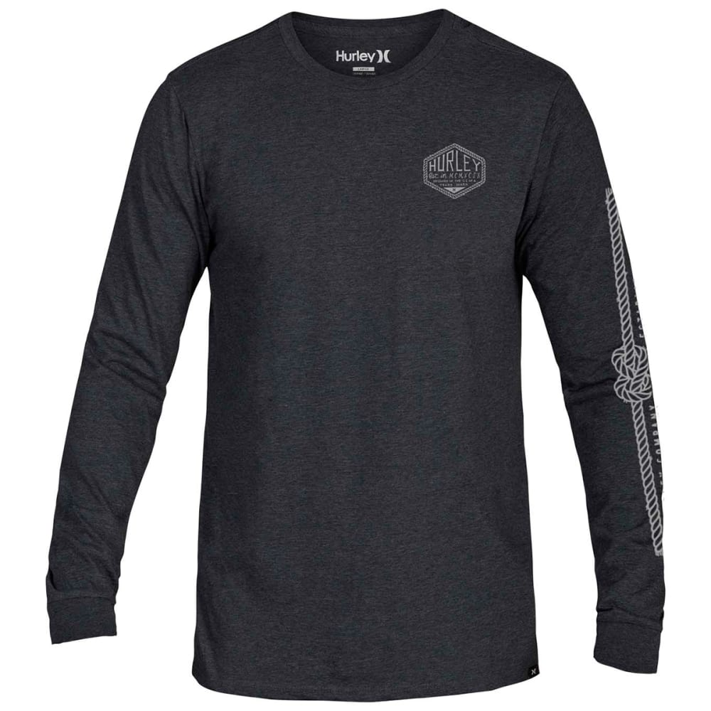 Hurley Guys' Framework Graphic Long-Sleeve Tee - Black, S