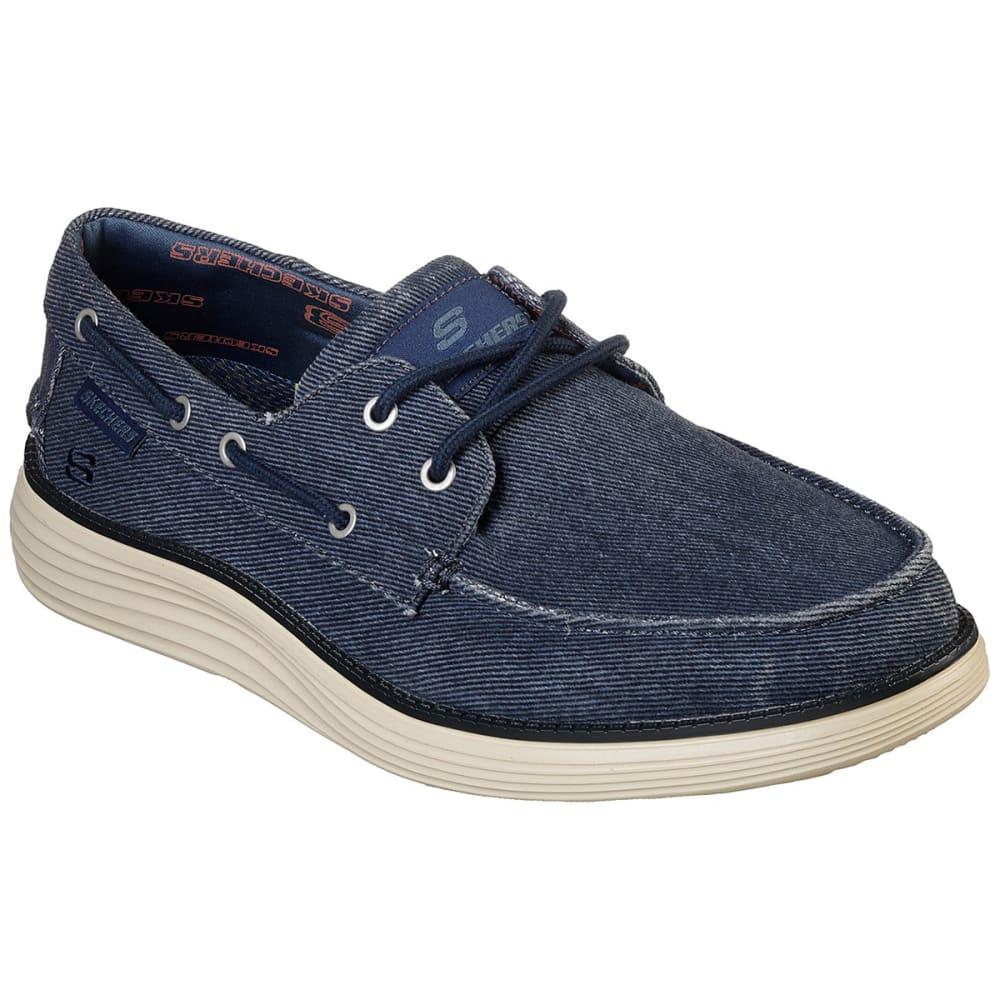 Skechers Men's Status 2.0 Lorano Moc Toe Canvas Shoes - Blue, 9