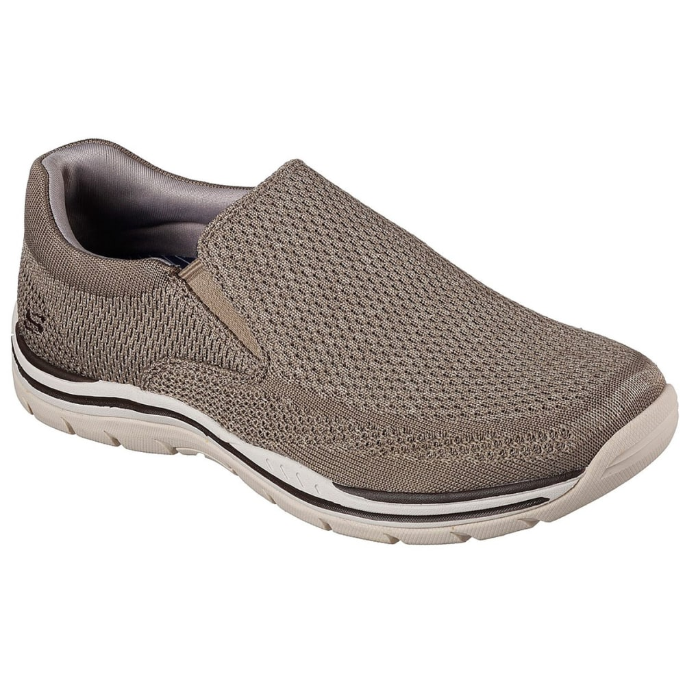 SKECHERS Men's Gomel Slip On Shoes, Wide - TPE- TAUPE