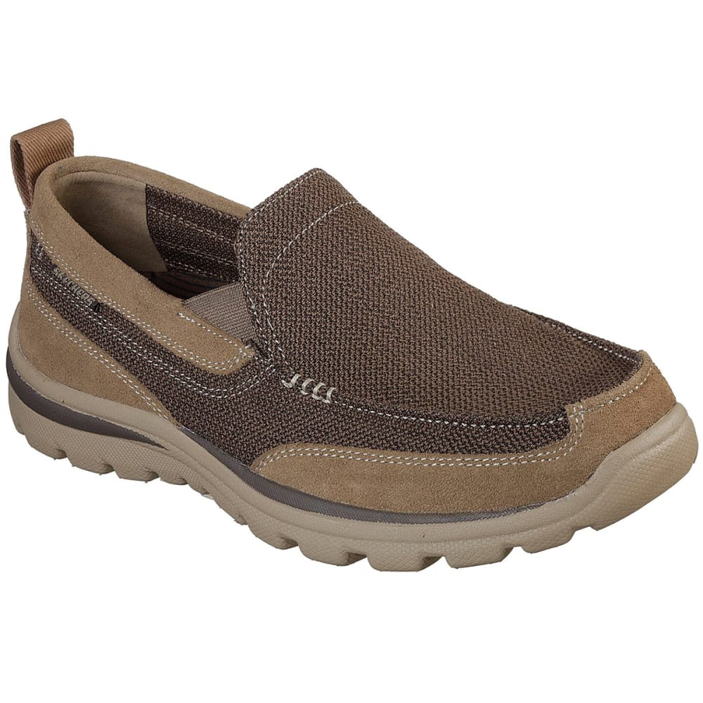 Skechers Men's Relaxed Fit Milford Slip On Shoes, Wide - Brown, 9