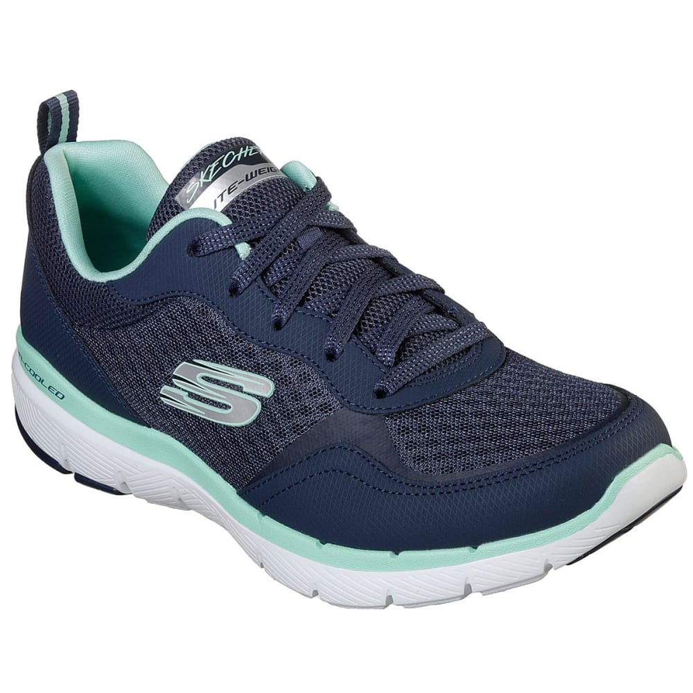 Skechers Women's Flex Appeal 3.0 Go Forward Shoes - Blue, 7