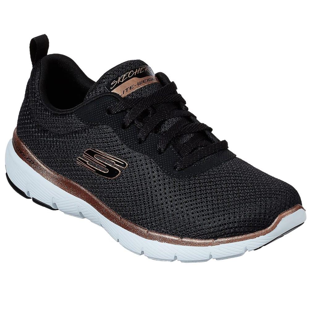 SKECHERS Women's Flex Appeal 3.0 First Insight Shoes, Wide - BKRG- BLACK