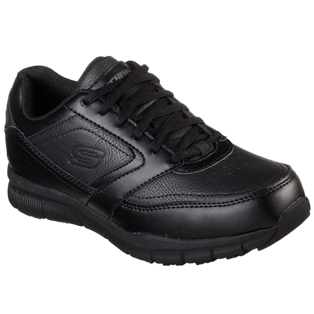 SKECHERS Women's Relaxed Fit Nampa Wyola SR Shoes - BLACK