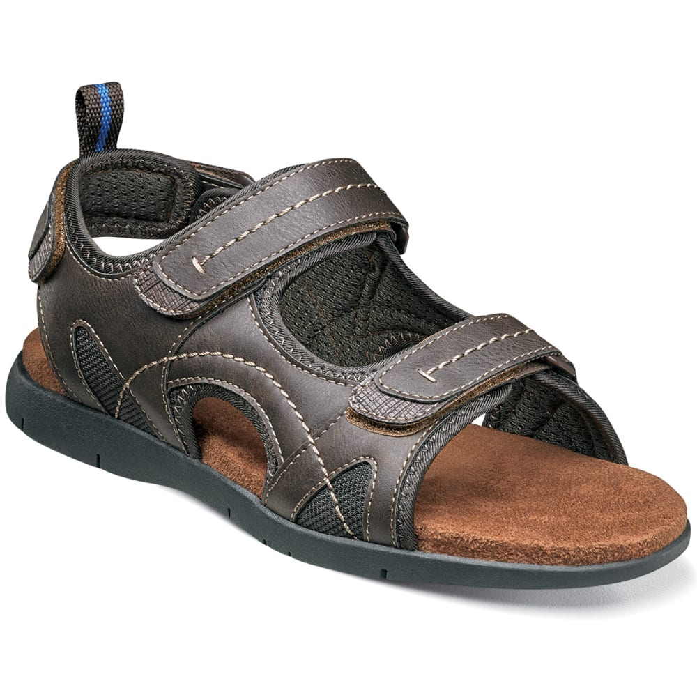 NUNN BUSH Men's Rio Grande Three-Stap Sandal - BROWN