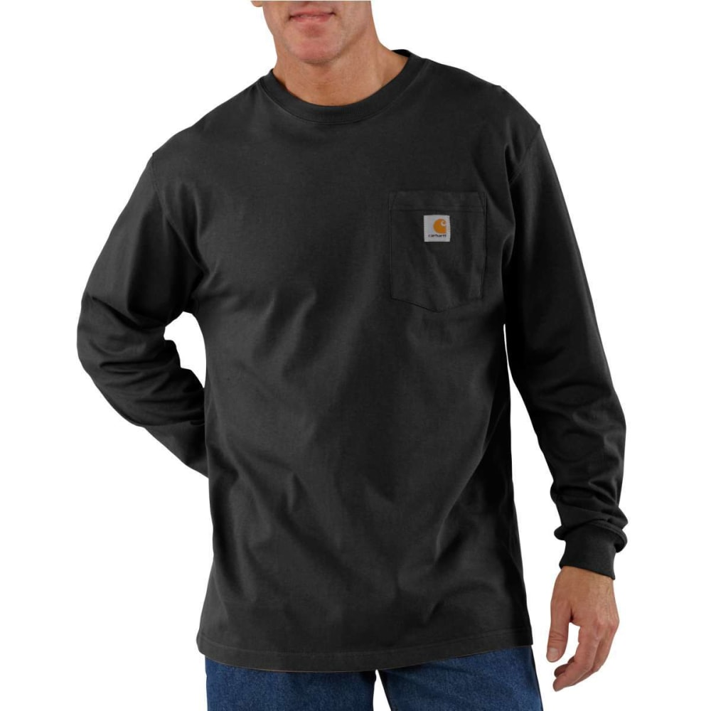 CARHARTT Men's K126 Workwear Long-Sleeve Pocket Tee - BLACK BLK