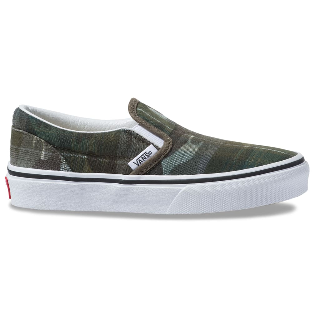 Vans Boys' Classic Slip-On Shoes - Green, 13