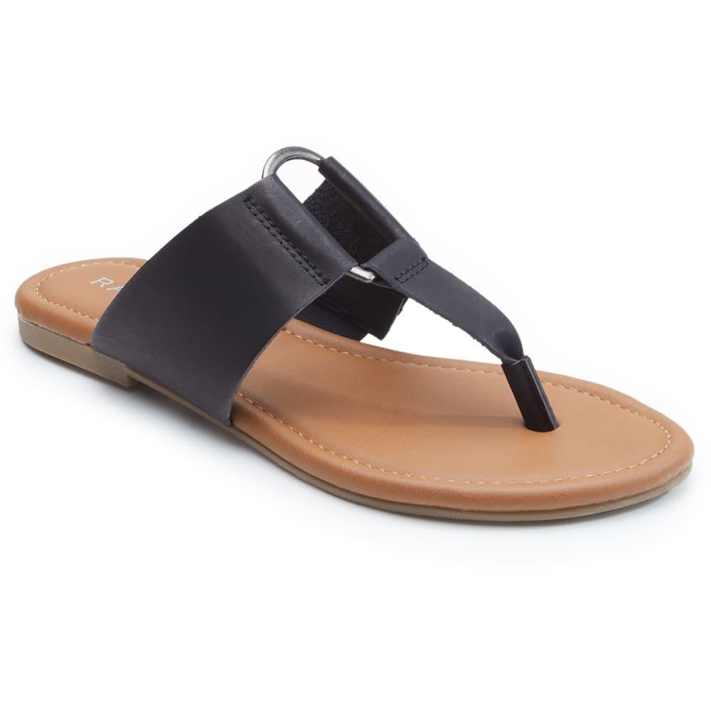 RAMPAGE-POLSON Women's Thong Sandal - BLACK