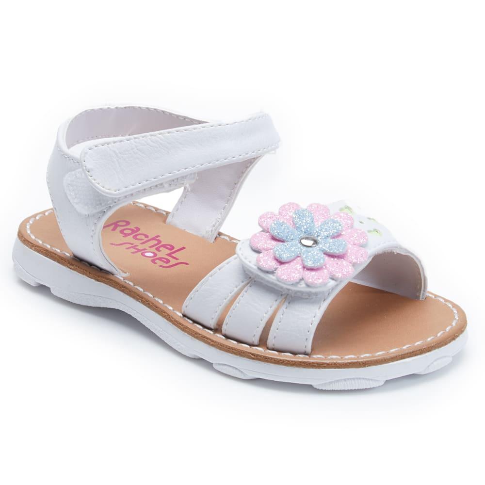 RACHEL SHOE Girls' Maddie Flower Sandals - WHITE