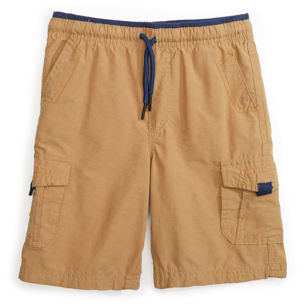 Ocean Current Boys' Cargo Shorts - Brown, S
