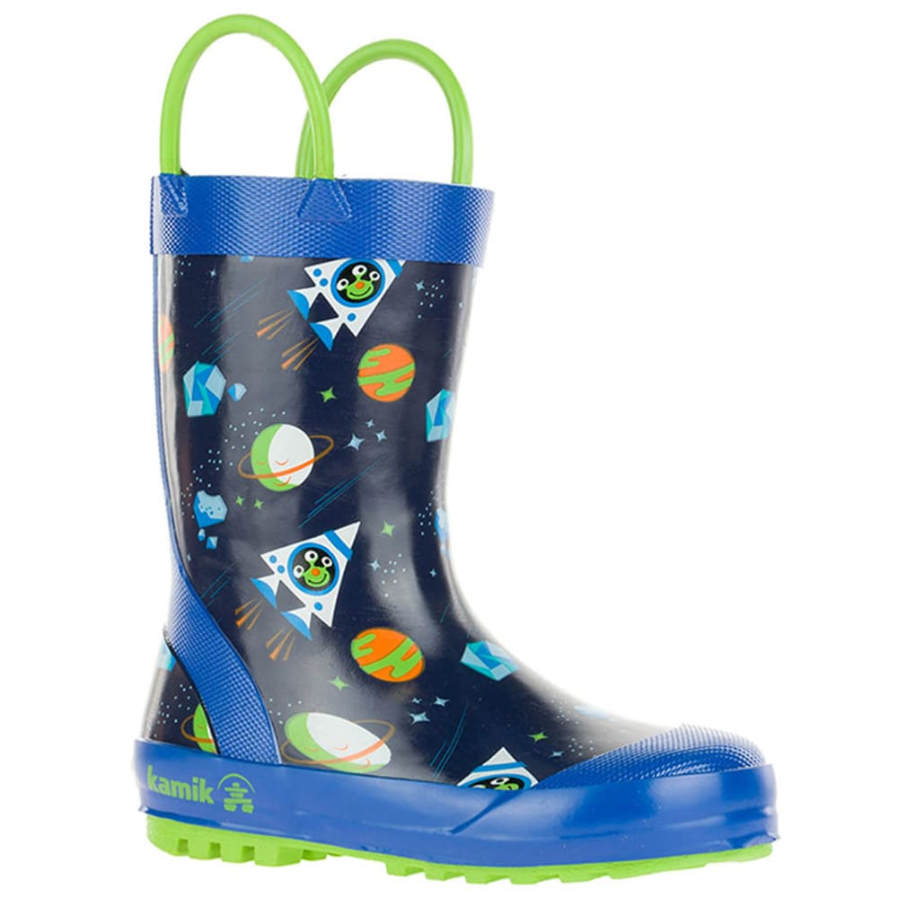 KAMIK Boys' Galaxy Rain Boots - ROY/LIM