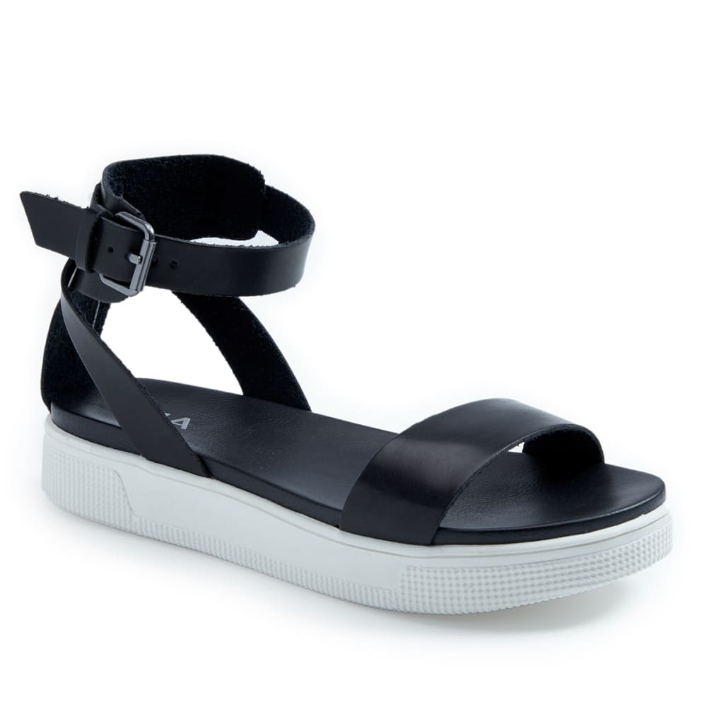 MIA Women's Ellen Ankle Strap Sandals - Black, 7.5