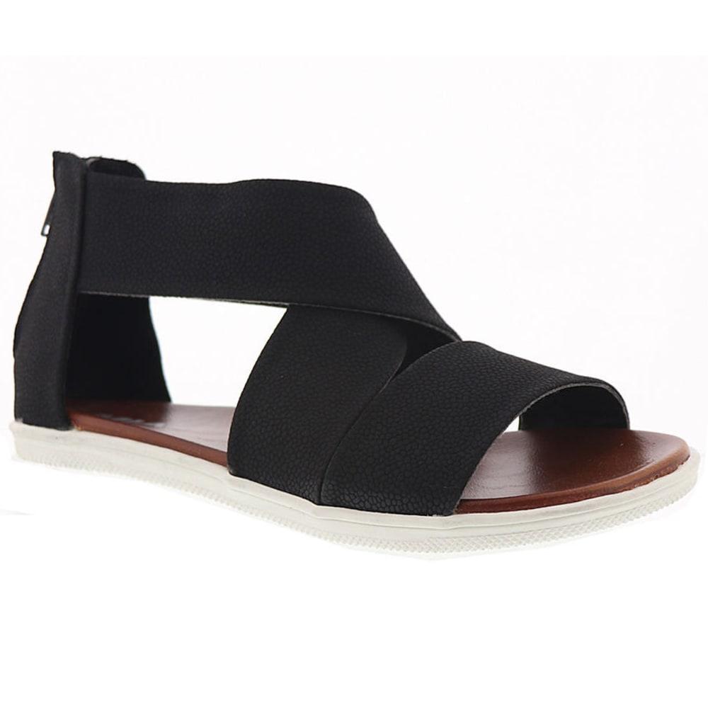 MIA Women's Deana Criss Cross Sandals - BLACK