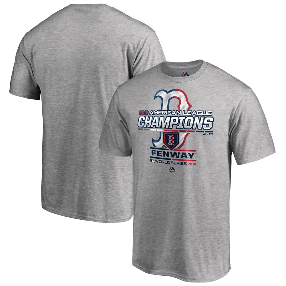 BOSTON RED SOX Men's 2018 ALCS Champions Locker Room Short-Sleeve Tee - HEATHER GREY