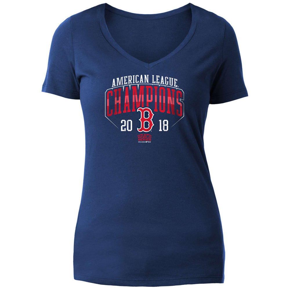 BOSTON RED SOX Women's 2018 ALCS Champions Short-Sleeve Tee - NAVY