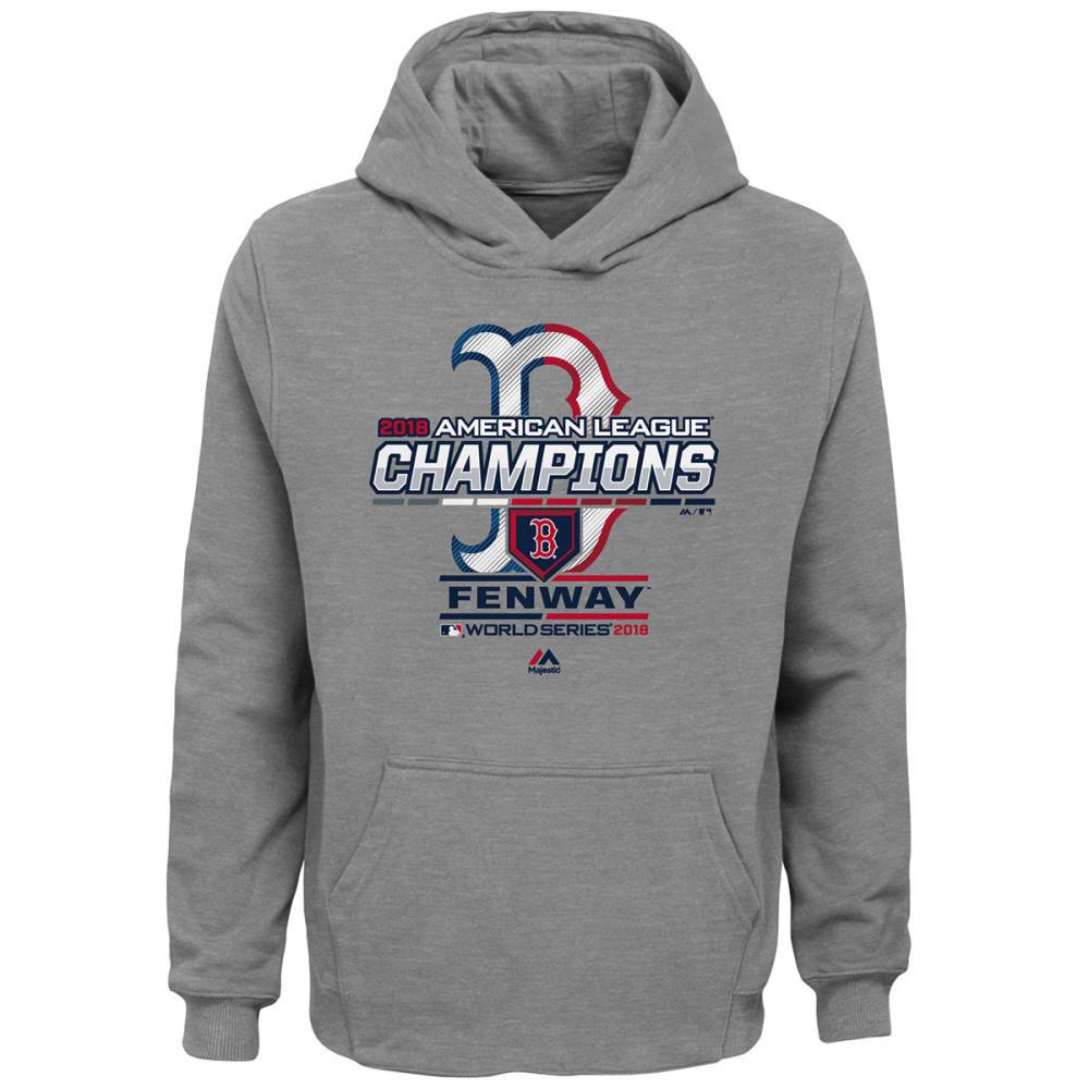 BOSTON RED SOX Kids' 2018 ALCS Champions Locker Room Pullover Hoodie - GREY