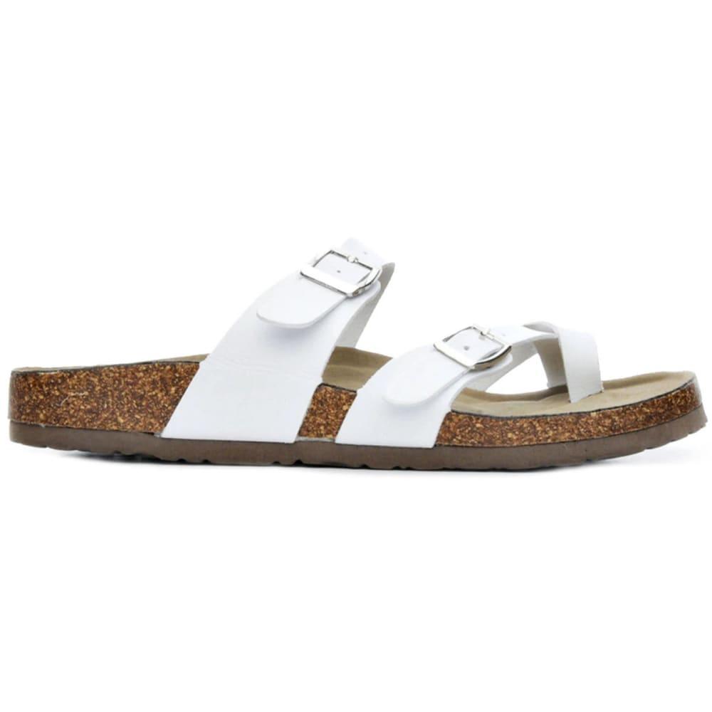 STEVE MADDEN Women's Brycee Thong Sandals - WHITE