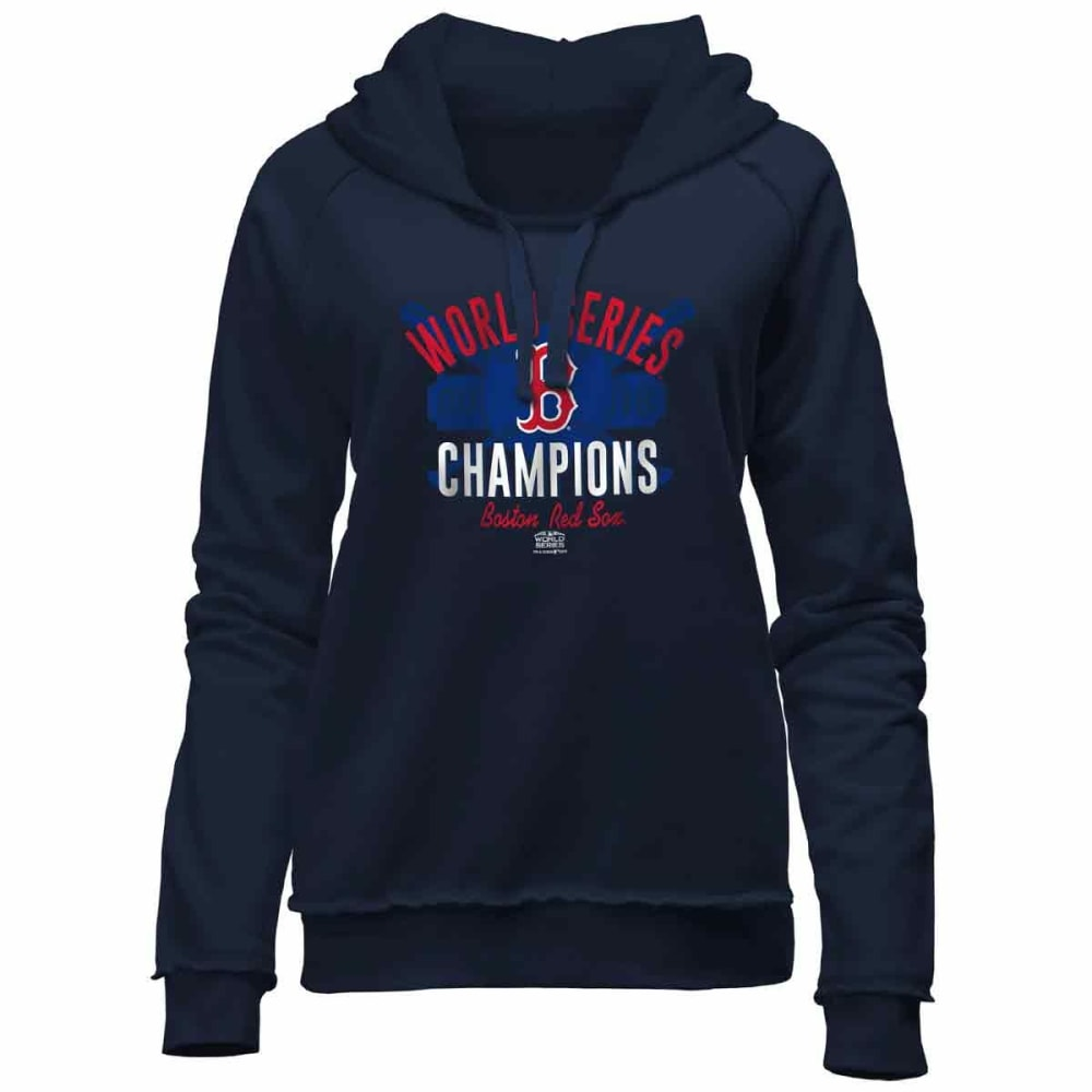 BOSTON RED SOX Women's 2018 World Series Champions Pullover Hoodie - NAVY