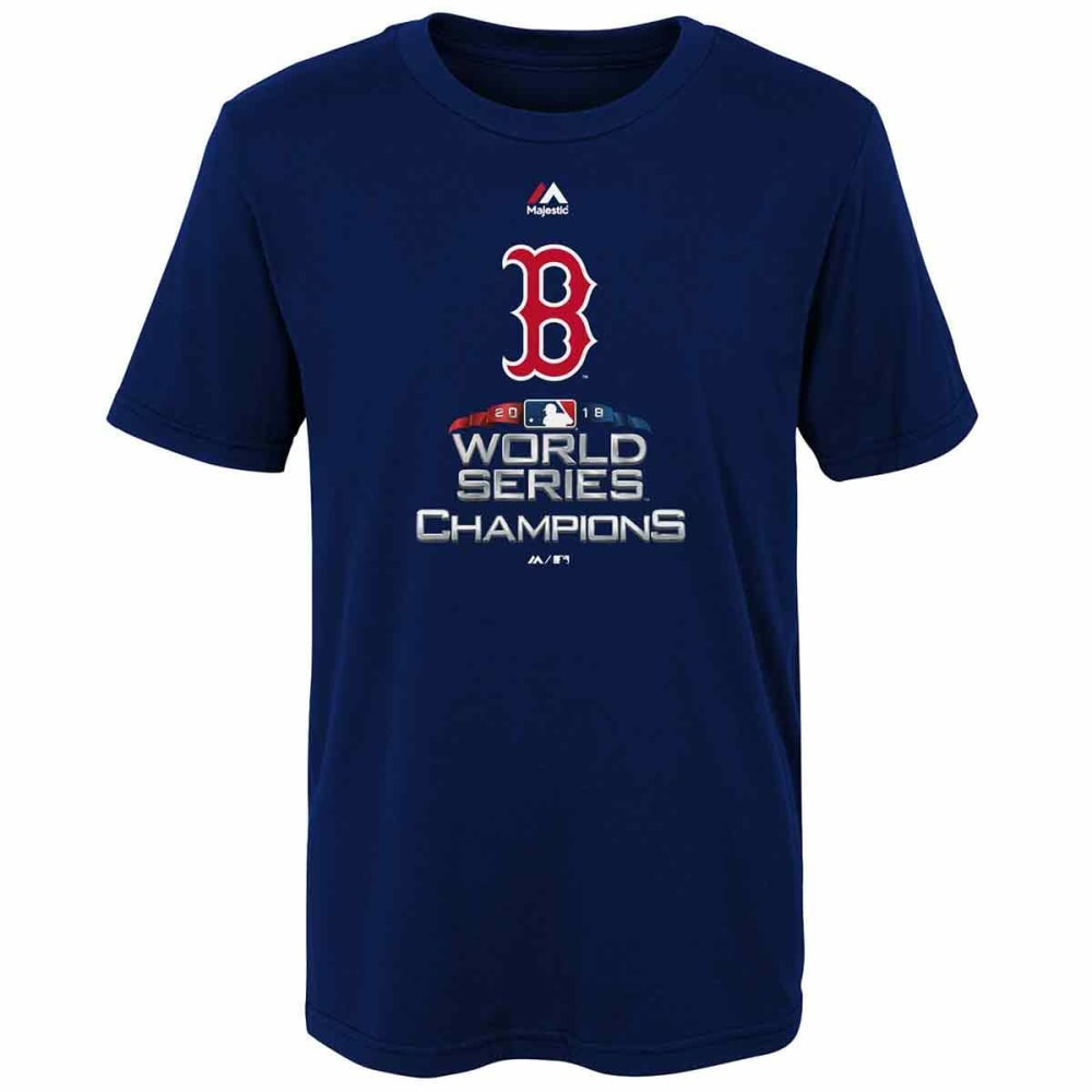 BOSTON RED SOX Little Kids' 2018 World Series Champions Short-Sleeve Tee - NAVY