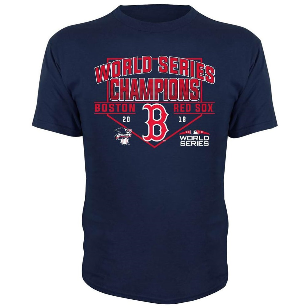 BOSTON RED SOX Big Kids' 2018 World Series Champions Short-Sleeve Tee - NAVY