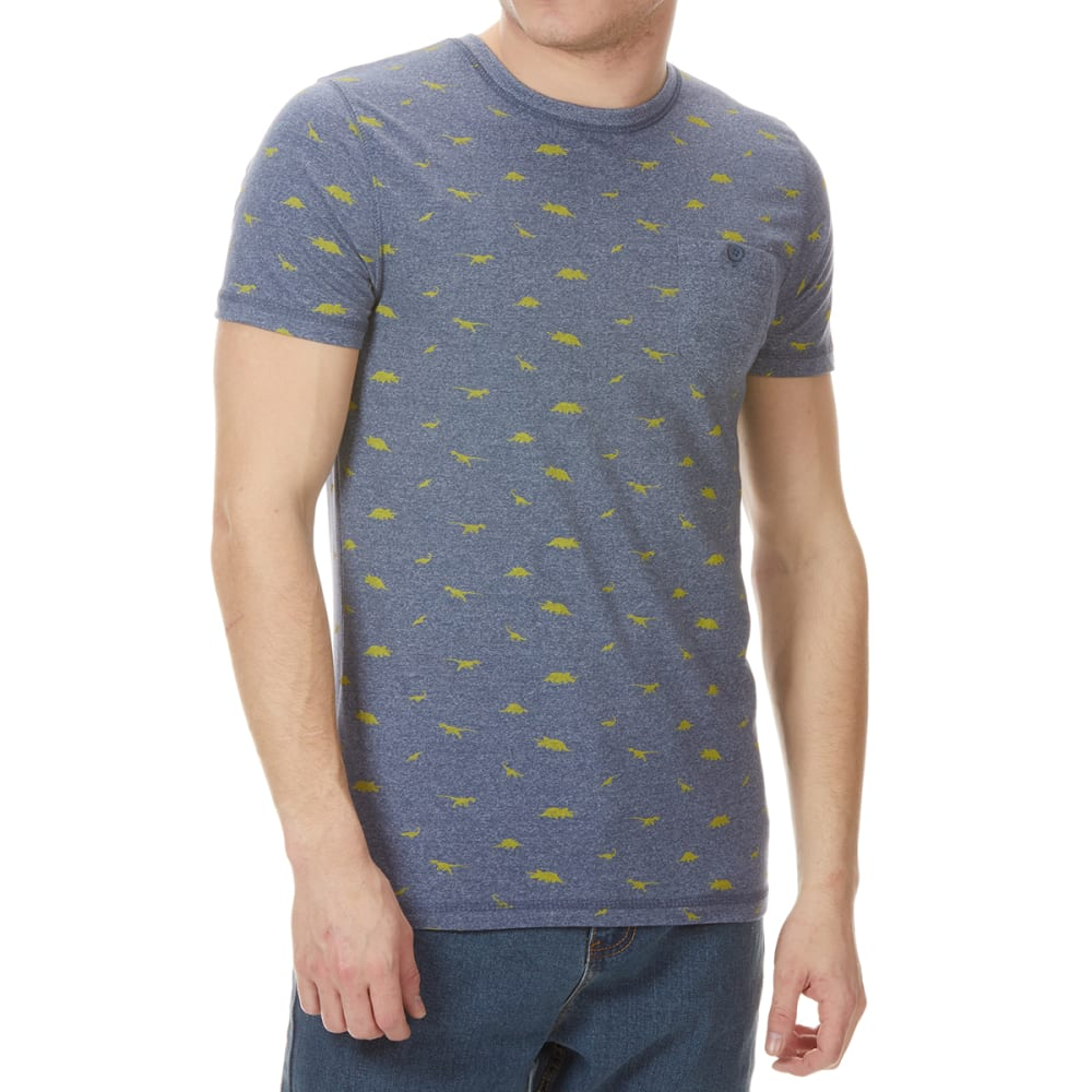 ALPHA BETA Men's Dino Print Short-Sleeve Tee - NAVY
