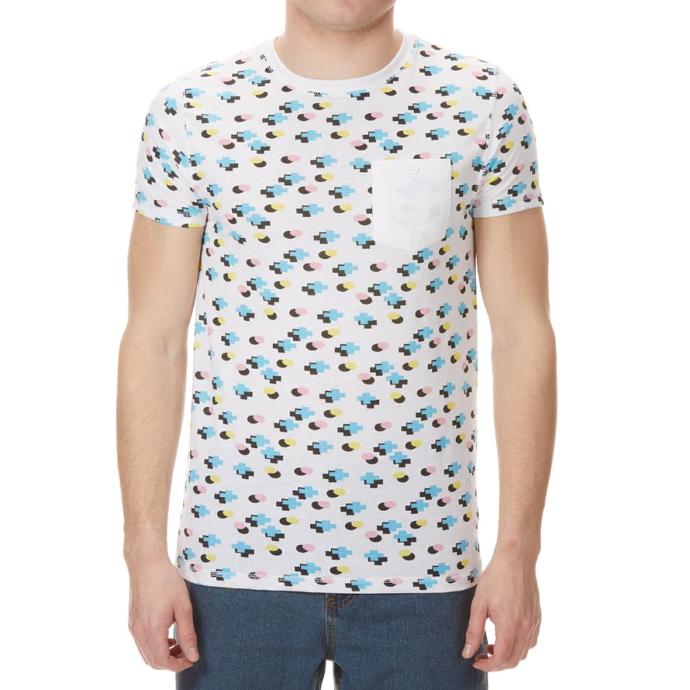 ALPHA BETA Men's Geometric Print Short-Sleeve Tee - WHITE MULTI