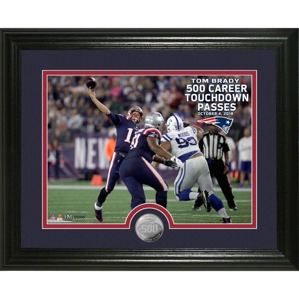 NEW ENGLAND PATRIOTS Tom Brady 500th Career Touchdown Passes Single Coin Photo Mint - NO COLOR