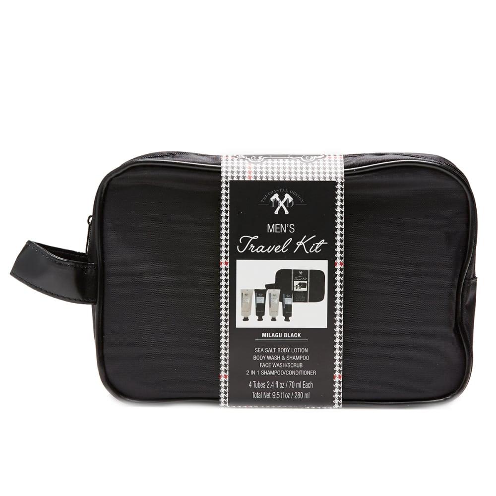 TRI-COASTAL DESIGNS Men's Plaid Case Travel Kit - NO COLOR