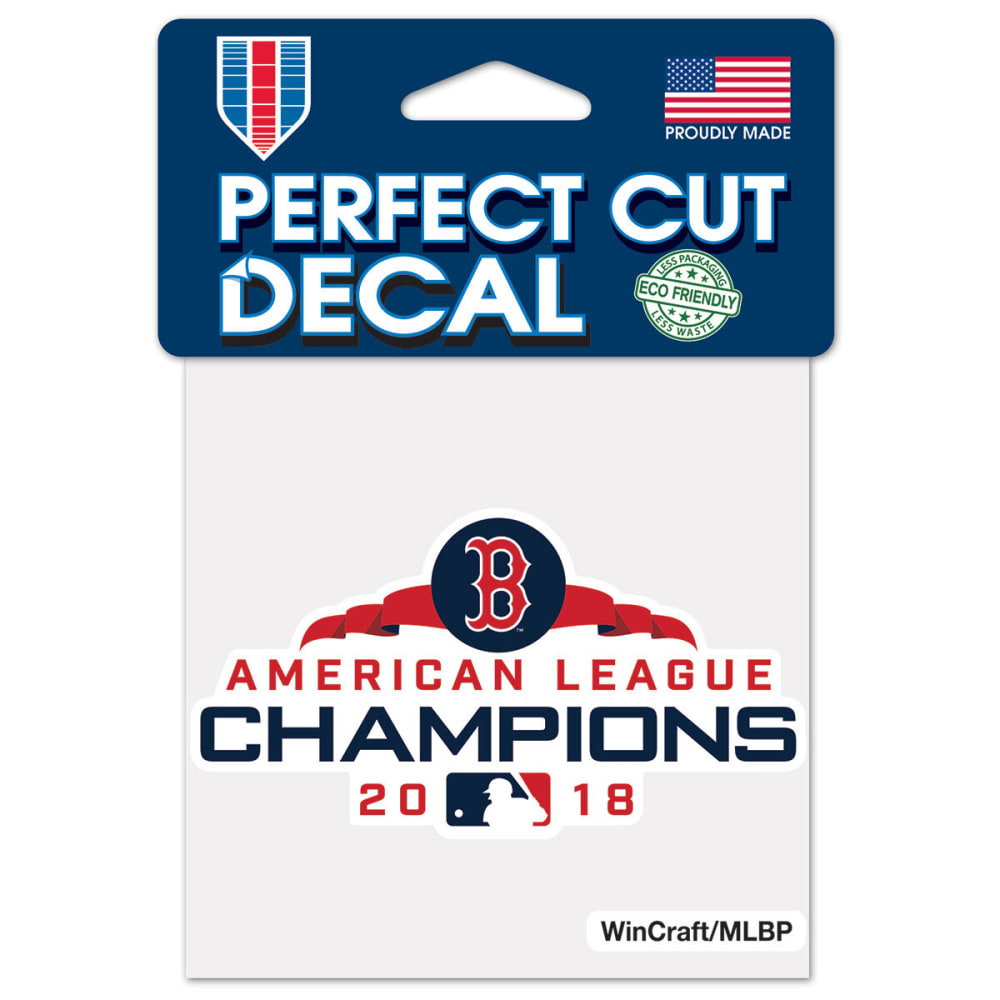 BOSTON RED SOX 4 x 4 in. 2018 ALCS Champions Perfect Cut Decal - NO COLOR