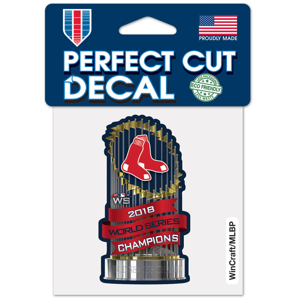 BOSTON RED SOX 4 x 4 in. 2018 World Series Champions Perfect Cut Decal - NO COLOR