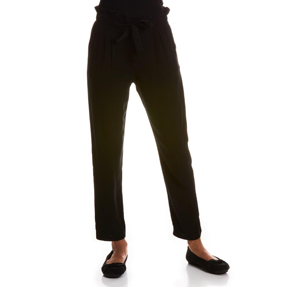 Ambiance Juniors' Solid Rayan Challis Pants - Black, S