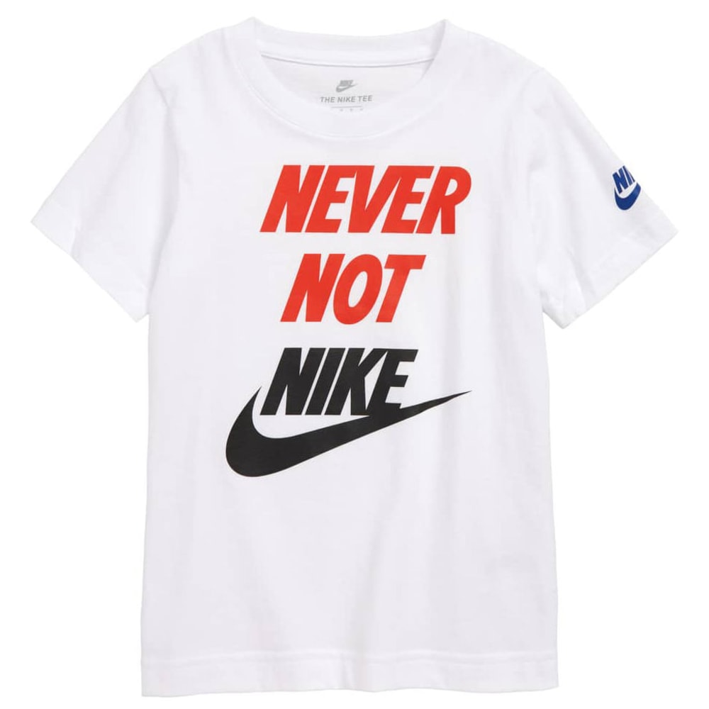Nike Little Boys' Never Not Nike Graphic Tee - White, 4