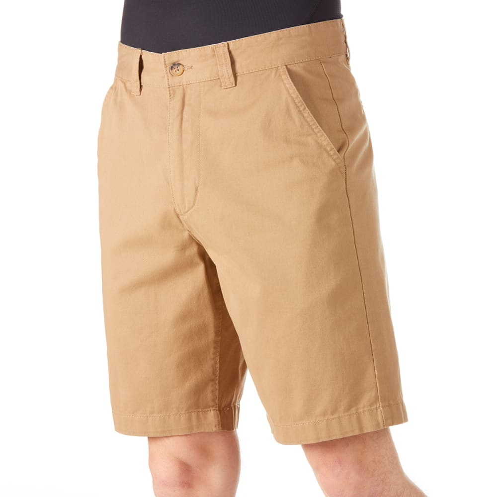 BCC Men's Flat Front Peached Twill Shorts 38