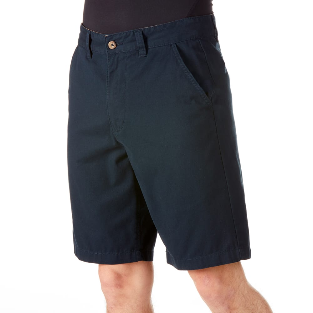 BCC Men's Flat Front Peached Twill Shorts 32