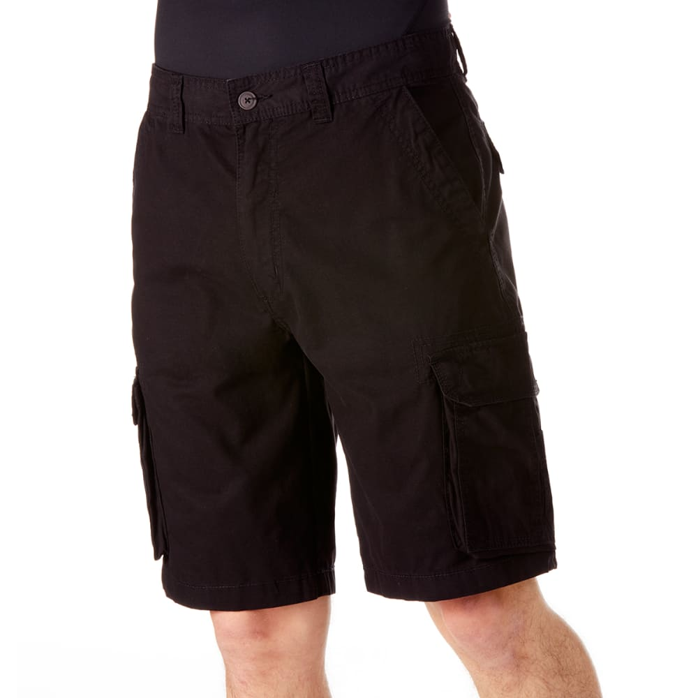 RUGGED TRAILS Men's Canvas Cargo Shorts 36
