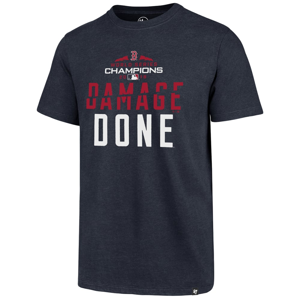 BOSTON RED SOX Men's 2018 World Series Champions '47 Damage Done Short-Sleeve Tee - NAVY